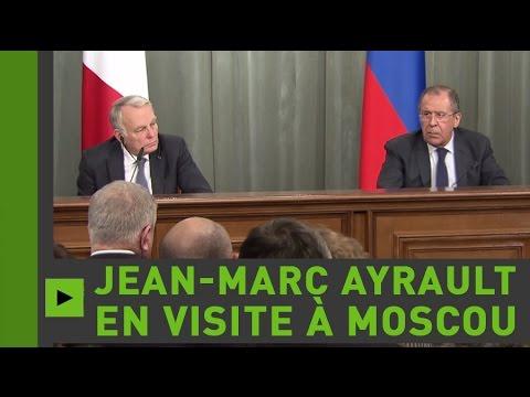 Сonférence de presse conjointe de Jean-Marc Ayrault avec Sergueï Lavrov (Direct du 19.04.16)