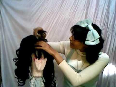 Lolita twin tail wig series: Asymmetrical updo tutorial