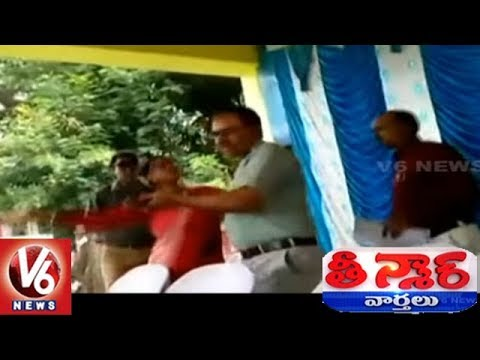 Woman Sarpanch Beats Govt Official For Not Calling Her Onto Stage | Teenmaar News