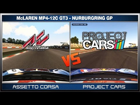 Assetto Corsa vs Project CARS - McLaren MP4-12C GT3 @ Nürburgring GP