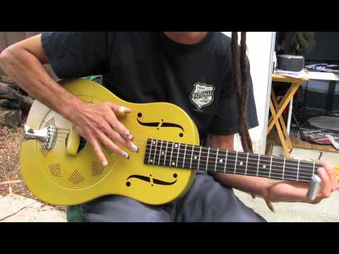 Beginner Blues Slide Guitar Lesson - Acoustic Blues Guitar Lessons Music Videos
