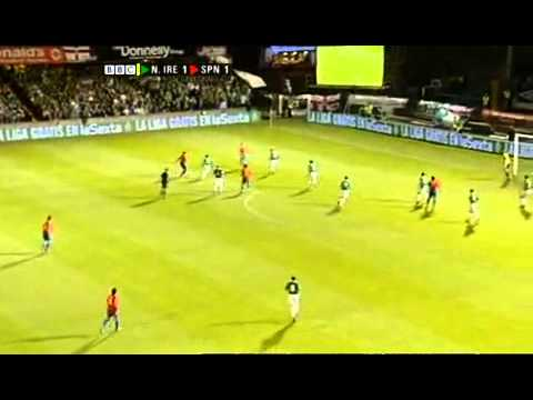 Northern ireland vs Spain (healy hatrick)