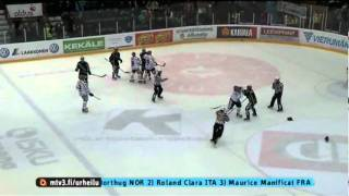 Pelicans-HIFK 26.11.2011,Finnish Ice Hockey group fights,total penalties 465min.