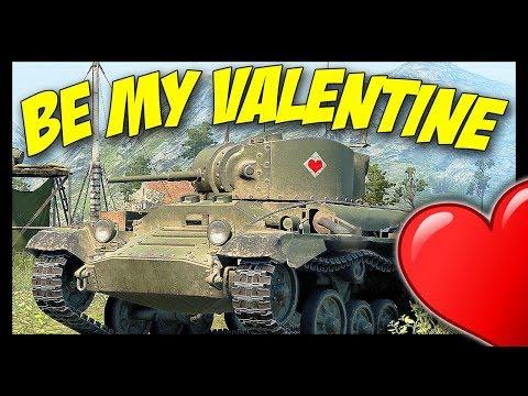 ► BE MY VALENTINE II ❤ - World of Tanks Valentine II Gameplay