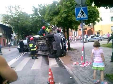 Wypadek w Żyrardowie 09.06.2013 (LG L7)