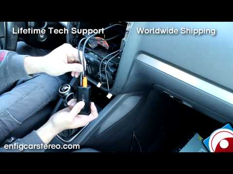 Jetta Rabbit GTI R32 06-09 iPod iPhone AUX adapter How-To-Installation Dension GWL1VW1