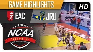 EAC vs. JRU | NCAA 93 | Game Highlights | September 19, 2017