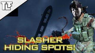 MWR: Secret Slasher Hiding Spots on 'Wet Work' 'Crash' and 'Downpour' (Modern Warfare Remastered)