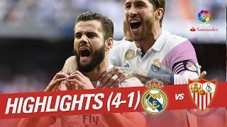 Resumen de Real Madrid vs Sevilla FC (4-1)