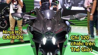 Soi siêu xe hàng hiếm trên TG giá hơn 1 tỷ Kawasaki Ninja H2 Carbon Limited Edition tại Việt Nam