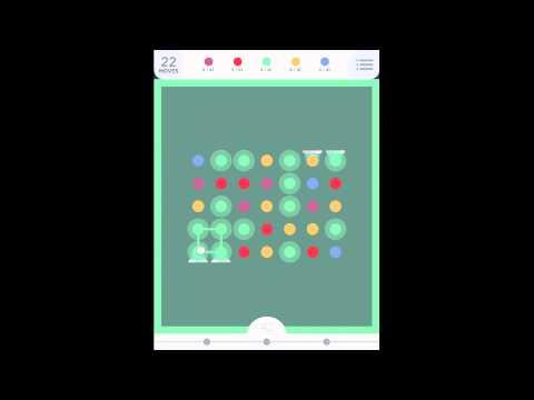TwoDots: Level 122 (Ver 2 - No Power-ups) Walkthrough (Two Dots)