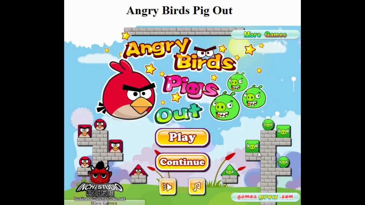 angry pigs game play online