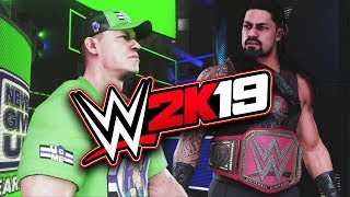 WWE 2K19 John Cena vs Roman Reigns Epic Full Match | WWE 2K19 Gameplay Xbox One X