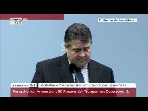 Politischer Aschermittwoch der SPD: Rede von Sigmar Gabriel am 18.02.2015