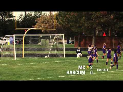 MC Raptors Women's Soccer vs. Harcum College Highlights, 10/8/2013
