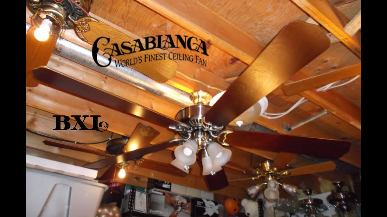 Casablanca BXL Blades On Panama Halo Ceiling Fan