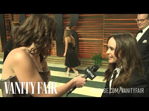 Ellen Page at the 2014 Vanity Fair Oscar Party-V.F. Academy Awards Party