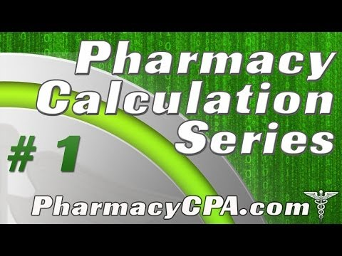 Pharmacy Calculations - Pharmaceutical Calculation Heirachy