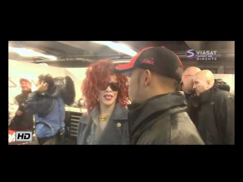 RIHANNA Chatting With Lewis Hamilton After Crash: Canadian GP 2011