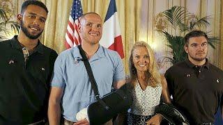 Francia concede la Legión de Honor para los héroes del tren Amsterdán-París que evitaron una masacre