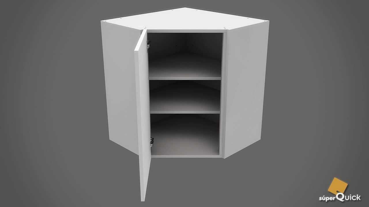 Instrucciones de montaje de mueble alto rinc n chaflan de for Muebles de esquina para cocina