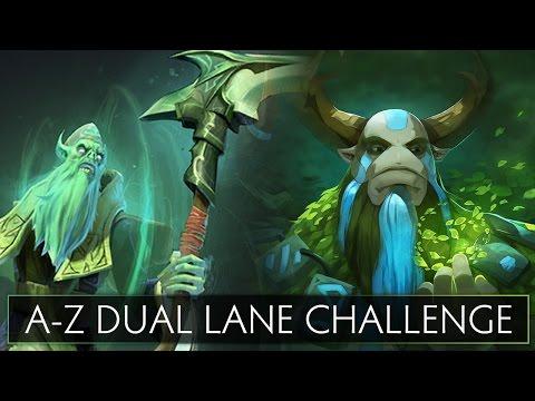 Dota 2 AZ Dual Lane Challenge  Natures Prophet and Necrophos