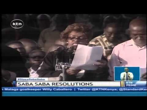 Saba Saba resolutions: Opposition cord to push for referendum on key issues