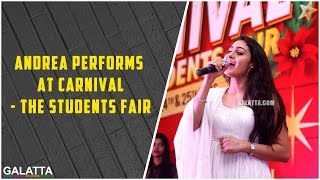 Andrea Performs at Carnival – The Students Fair