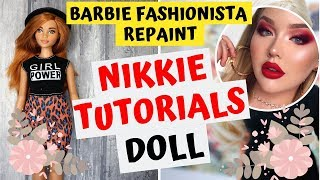 NIKKIE TUTORIALS DOLL OUT OF BARBIE FASHIONISTA / DOLL MAKEOVER / REAL TATTOO's / COMPLETE TUTORIAL