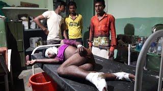 सीतापुर थानाथनगांव क्षेत्र में बाइक सवार अज्ञात वाहन की ठोकर से जख्मी