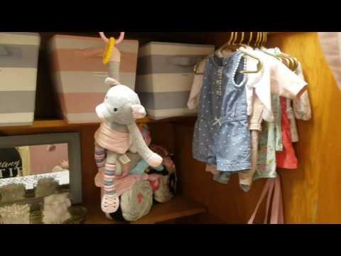 Baby girl Nursery Tour and Organization