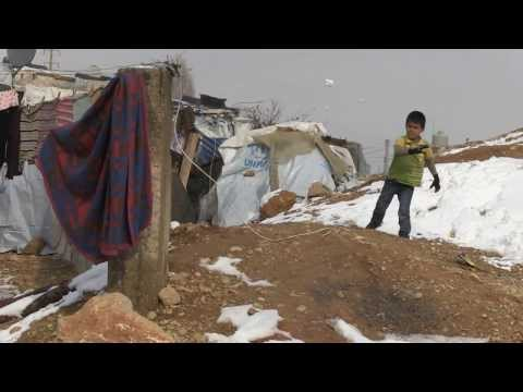 Syria crisis: 9-year-old Shaimaa tells what winter is like in refugee camp in Lebanon