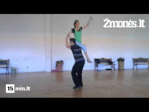 """LNK projekto """"Kviečiu šokti"""" dalyviai Jurga Anusauskienė ir Andrius Greblikas"""