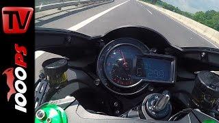 Kawasaki H2 Top Speed - Acceleration @Autobahn
