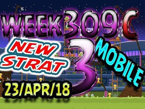 Angry Birds Friends Tournament Level 3 Week 309-C NEW STRAT Highscore POWER-UP walkthrough