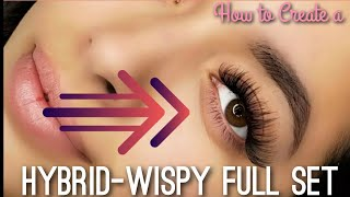 How To Create a Hybrid Wispy Full Set *RELAXING LASH EXTENSION TUTORIAL*