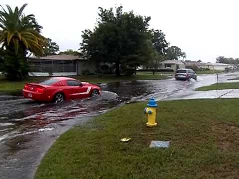 Tropical Storm Debby Flooding Port Richey, Fl