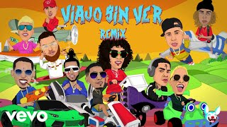 Jon Z - Viajo Sin Ver Remix (Lyric Video) [feat. De La Ghetto, Almighty, Miky Woodz, El...
