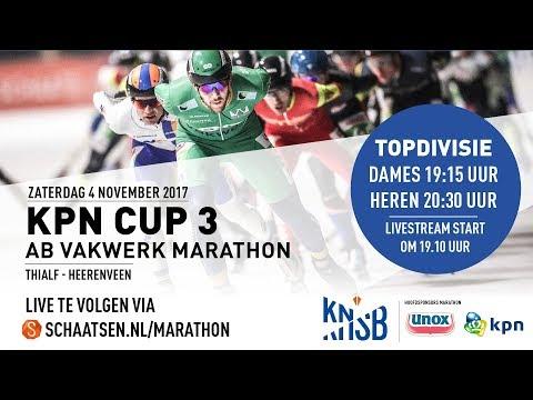 Livestream KPN Marathon Cup 3 Heerenveen 4 november 2017