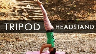 Yoga Poses: Tripod Headstand Workout Tutorial I 4