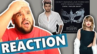 "ZAYN & Taylor Swift - I Don't Wanna Live Forever (From ""Fifty Shades Darker"") REACTION"