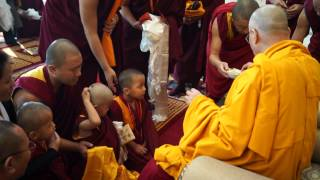 The Dalai Lama | Hair Cutting Ceremony for Geshe Gyaltsen | 12 26 2014