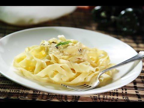 Fetuccini a los cuatro quesos - Receta de pasta fácil de preparar