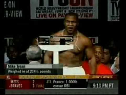 Mike Tyson V S Lenox Lewis Weigh In Youtube