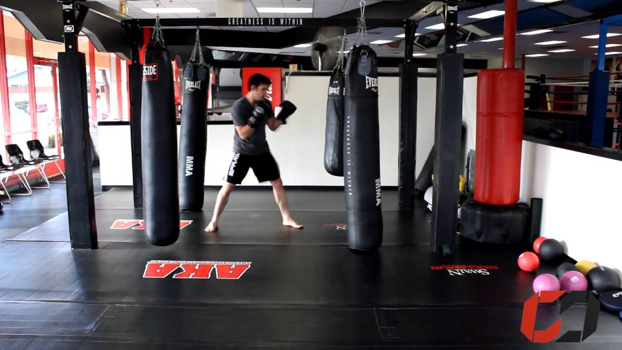 Home mma cardio training boxing interval workout on the