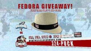 Condors Fedora and Bobblehead Giveaways