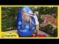 GIANT EGG SURPRISE OPENING Jurassic World Dinosaur Toys Kids Video