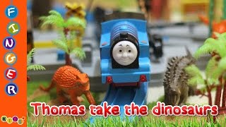 Toys Thomas the train take the Dinosaurs Nursery Rhymes By KidsW