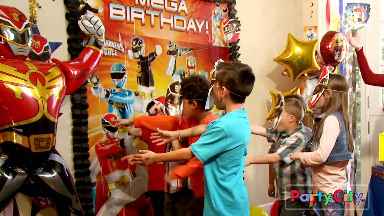 Throw A Megaforce Power Rangers Party Youtube