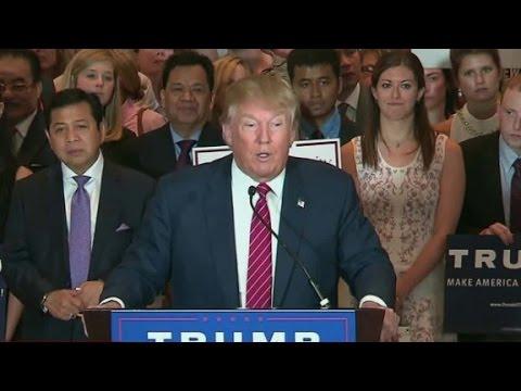Donald Trump signs loyalty GOP pledge